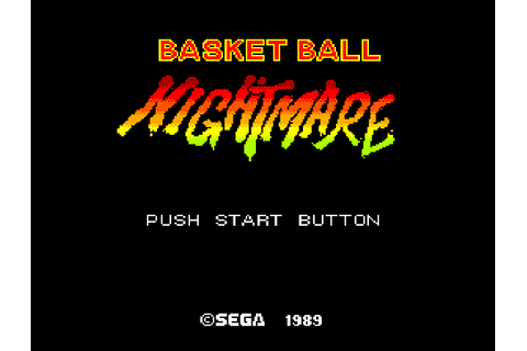 Play Basketball Nightmare Online SMS Game Rom - Sega ...