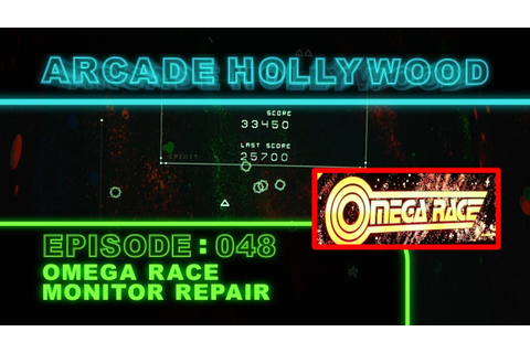 Omega Race Arcade Game Monitor Repair - YouTube
