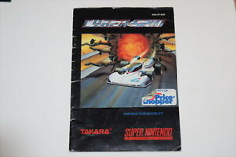 Cyber Spin Super Nintendo SNES Video Game Manual Only | eBay