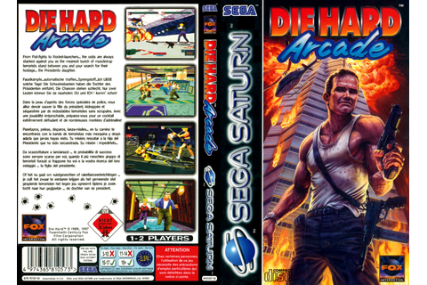 Sega Saturn D Die Hard Arcade E Game Covers Box Scans Box ...