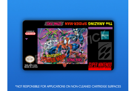 SNES - Amazing Spider-Man: Lethal Foes Label | Retro Game ...