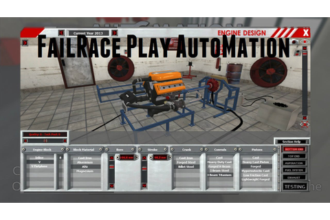 FailRace Play... Automation Car Company Tycoon Game - YouTube