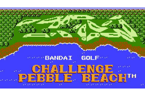Bandai Golf Challenge Pebble Beach - NES Gameplay - YouTube