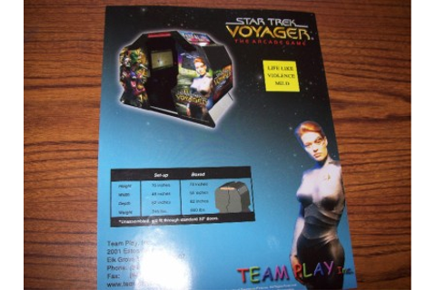 STAR TREK VOYAGER THE ARCADE GAME BY TEAM PLAY ORIGINAL ...