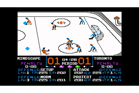 Superstar Ice Hockey for the Apple II - YouTube
