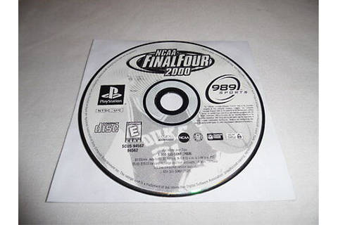 NCAA FINAL FOUR 2000 - PS1 Sony PlayStation 1 game Disc ...