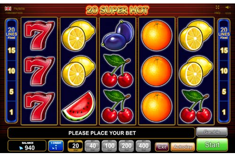 Free 20 Super Hot Slot Review (EGT) | CasinoGamesOnNet.com