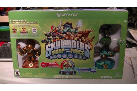 SKYLANDERS SWAP FORCE XBOX ONE UNBOXING - YouTube