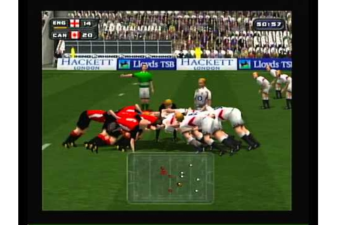 """Rugby 2004"" Playstation 2 opening and gameplay (no ..."