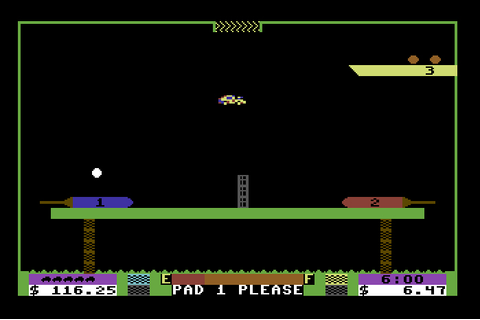 My all time favourite video games: Space Taxi - Commodore ...