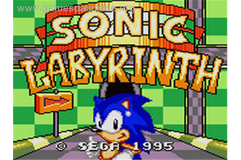 Sonic Labyrinth - Sega Game Gear - Games Database