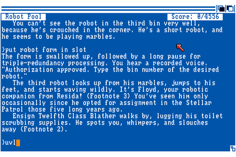 Stationfall (1987) by Infocom Amiga game