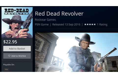 Red Dead Revolver (PS2 classic) coming soon to PS4 ...