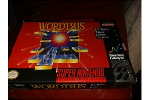 Wordtris Super Nintendo Game SNES video game with box ...