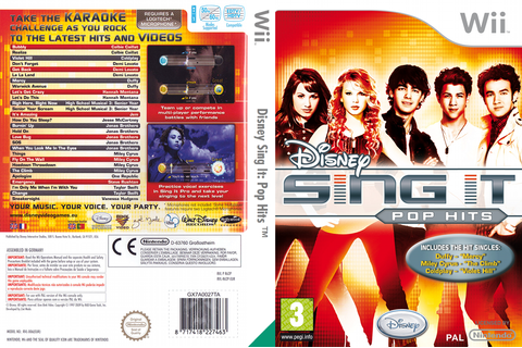R62P4Q - Disney Sing It: Pop Hits