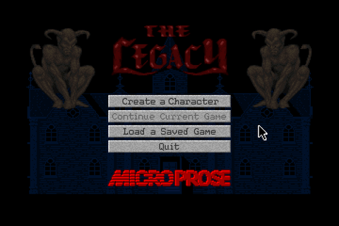 Скриншоты The Legacy: Realm of Terror на Old-Games.RU