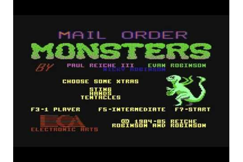 Mail Order Monsters - C64 - Best C64 Games (EA 1985) - YouTube