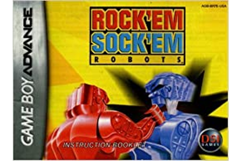 Rock 'Em Sock 'Em Robots GBA Instruction Booklet (Game Boy ...