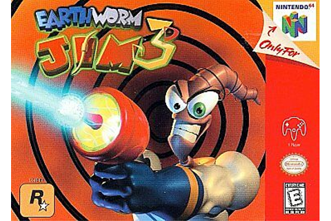 EARTHWORM JIM 3D N64 NINTENDO 64 GAME COSMETIC WEAR ...