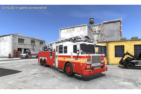 Fire Truck Low-Poly 3D Model Game ready rigged .max .obj ...