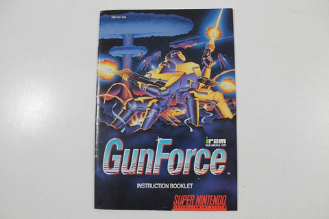 Manual - Gunforce - Gun Force - Snes Super Nintendo