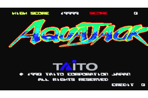Aqua Jack (1989) - (Full Game) Arcade MAME Longplay [086 ...