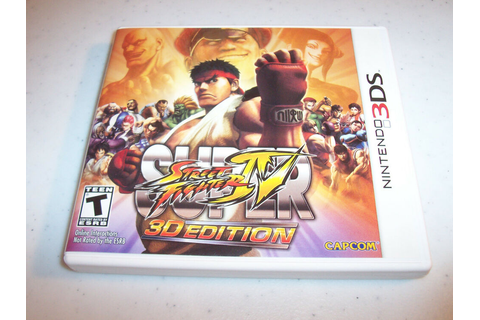 Super Street Fighter IV 3D Edition (Nintendo 3DS) XL 2DS ...