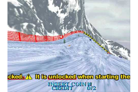 Model 2 Emulator SEGA Ski Super G Demo - YouTube