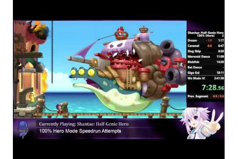 Shantae: Half-Genie Hero - Hero Mode 100% Speedrun (Under ...
