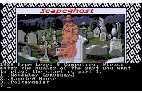Scapeghost (1989) by Level 9 Computing MS-DOS game