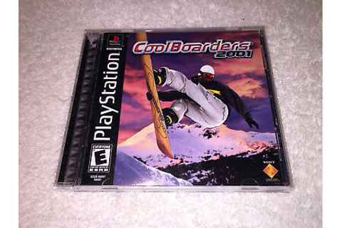 Cool Boarders 2001 (PlayStation PS1) Black Label Game ...