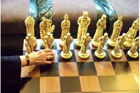 "9"" MEDIEVAL King, Chess Set ""antiqued"". Made-2-Order in ..."