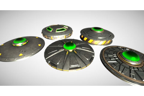 UFO – 5 PBR Flying Saucers for an Alien Space Game | 3D ...