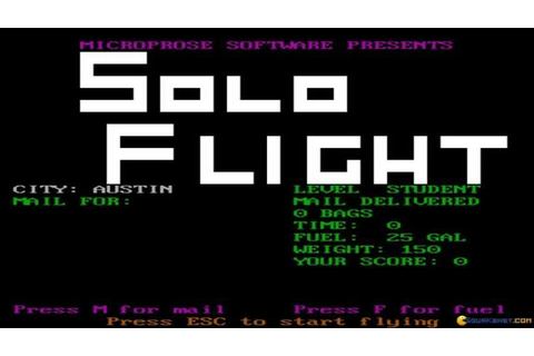 Solo Flight gameplay (PC Game, 1985) - YouTube
