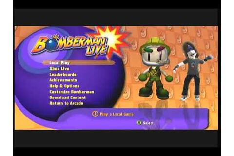 Xbox LIVE Arcade Game - Bomberman LIVE - YouTube