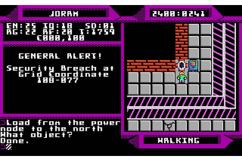 Download 2400 A.D. rpg for DOS (1988) - Abandonware DOS