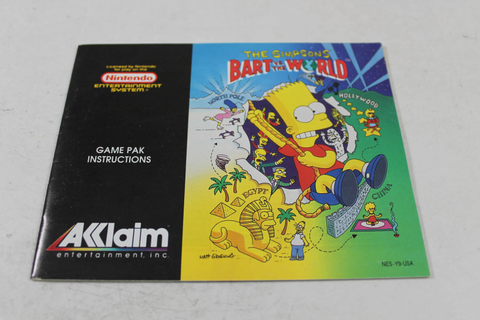 Manual - Bart Vs. The World - Nes Nintendo Simpsons
