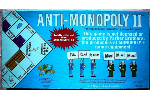ANTI-MONOPOLY II Board Game, 1985, National Games ...