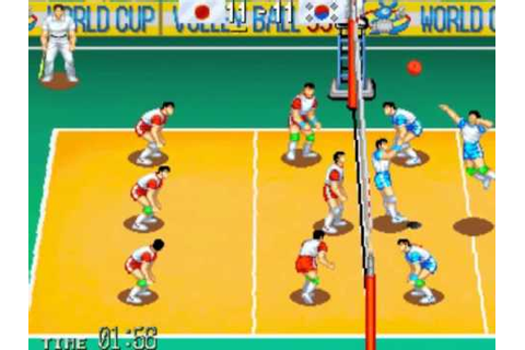 World Cup Volley 95 MAME Gameplay video Snapshot -Rom name ...