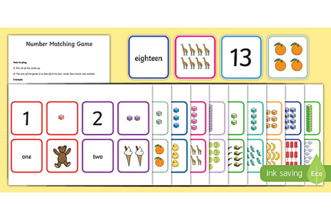 1-20 Number Matching Card Game (teacher made)