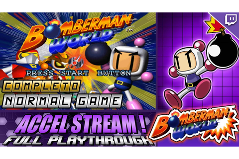 Bomberman World | PS1 | Normal Game | Completo | Accel ...