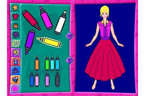 Barbie Fashion Designer Download (1996 Educational Game)