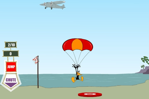 Daffy Duck Sky Diving Game - Gliding & Parachuting games ...