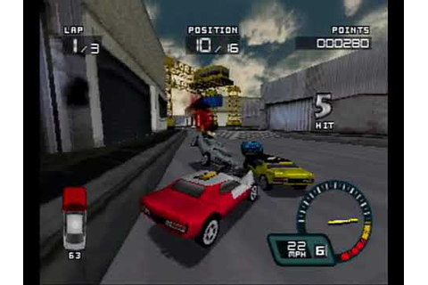Demolition Racer PS1 Intro + Gameplay - YouTube