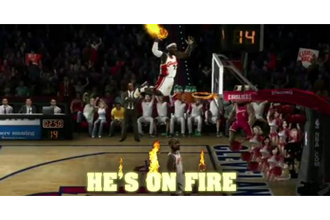 Kenny Dobbs Jumps Over a Man On FIRE! NBA Jam Style Dunk!