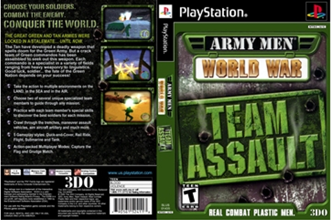 Army Men: World War: Team Assault (PS1) - The Cover Project