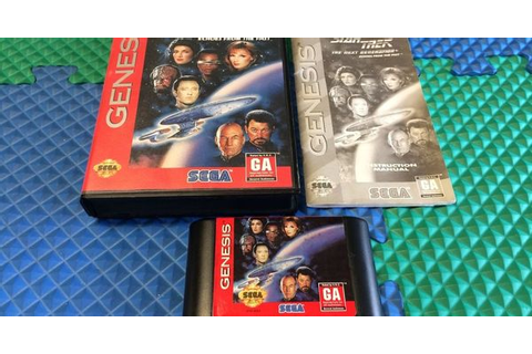 SEGA GENESIS GAME STAR TREK THE NEXT GENERATION ECHOES ...