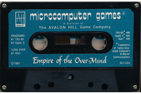 Atari 400 800 XL XE Empire of the Over-Mind : scans, dump ...
