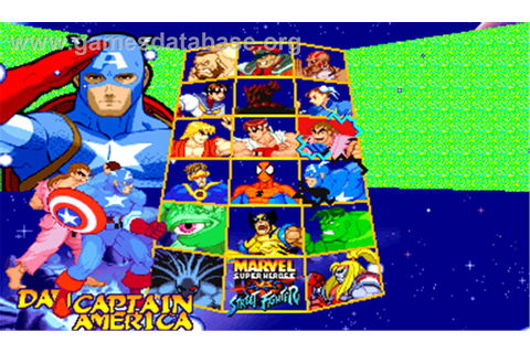 Marvel Super Heroes Vs. Street Fighter - Arcade - Games ...