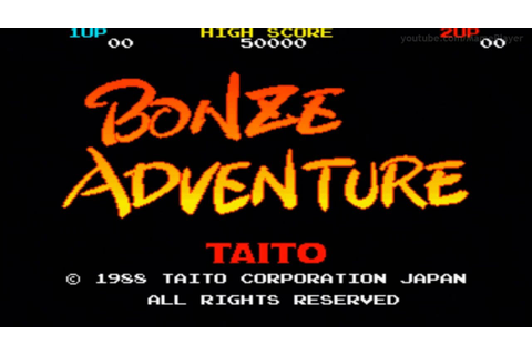 Bonze Adventure 1988 Taito Mame Retro Arcade Games - YouTube